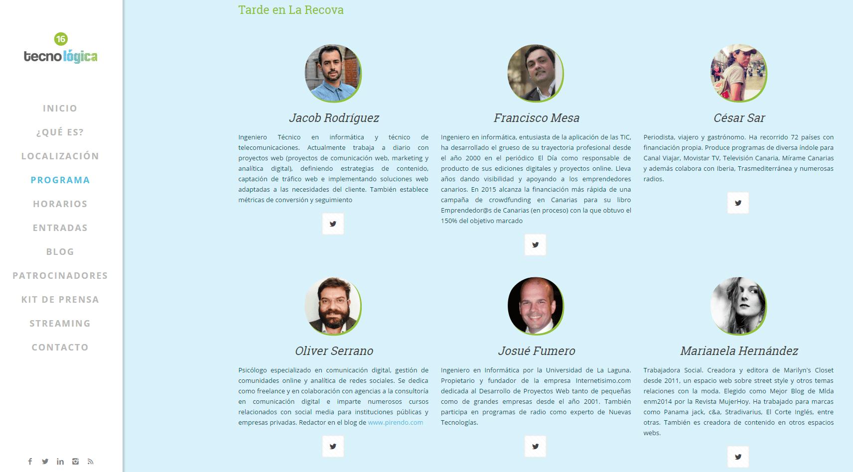 Jacob Rodríguez Torres - Tecnologíca Santa Cruz 2016 - Tarde en la Recova - Analítica digital y soluciones web en Canarias