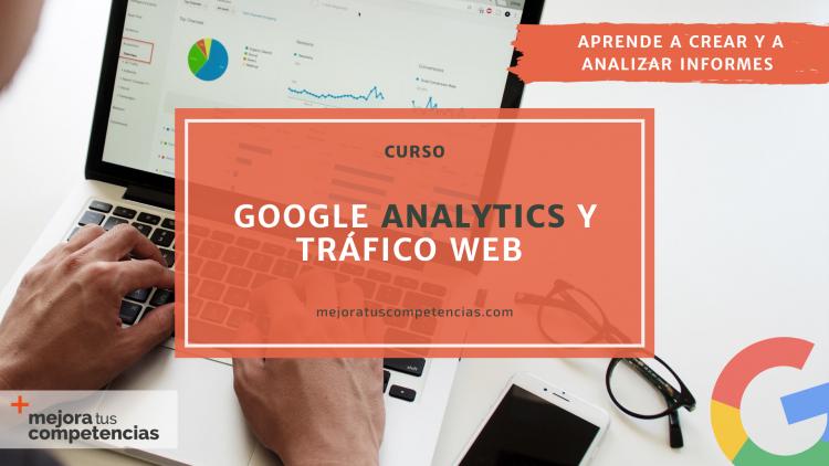Banner del curso de Google Analytics y tráfico web