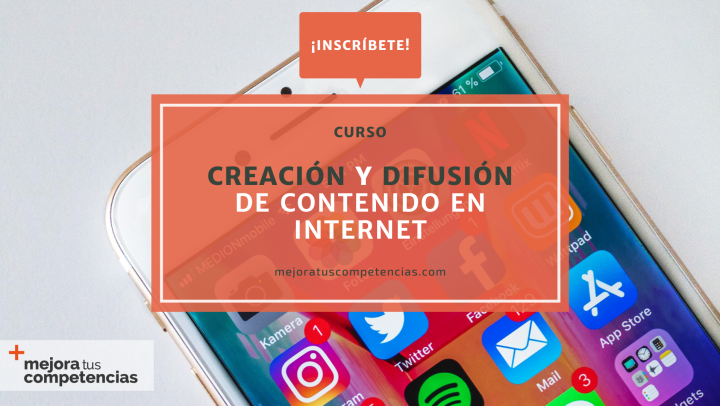 Banner del curso de creación y difusión de contenido en Internet