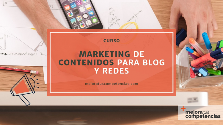 Banner del curso de marketing de contenidos para blog y redes