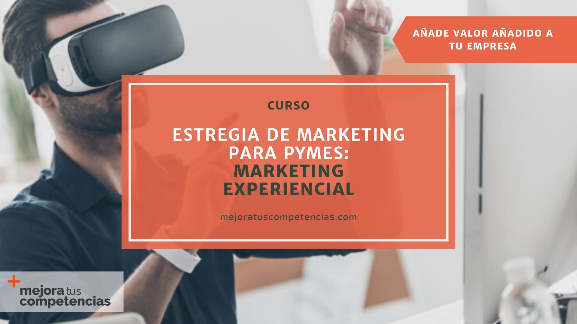 Banner del curso de estrategia de marketing experiencial para pymes