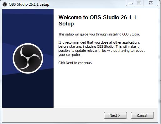 Primer paso para instalar OBS en Windows